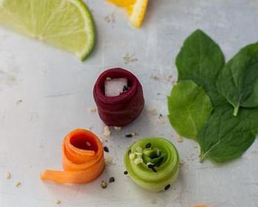 Frischekick Fingerfood (vegan, vorwiegend roh, farbenfroh und sehr lecker!)