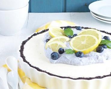 Oreo-Zitronen Tarte mit Heidelbeer Sahne