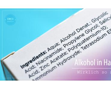 Alkohol in Hautpflege – wirklich so schlimm?