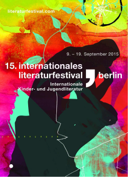 Rückblick: internationales literaturfestival berlin