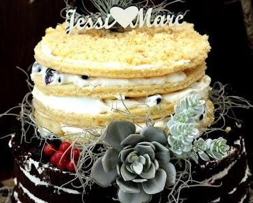 Mein Lieblingsstück - Hochzeitstorte mit Sukkulenten