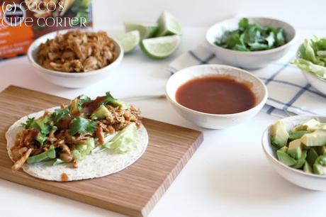 chicken tinga mini tacos street food f r zu hause. Black Bedroom Furniture Sets. Home Design Ideas
