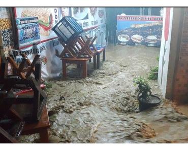 Rekord-Regen in Bodrum an der Ägäis
