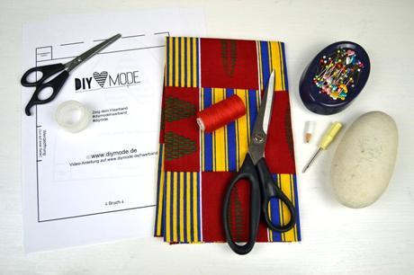 DIY Haarband zum Knoten Material