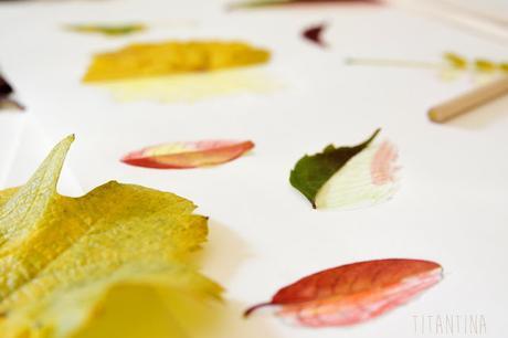 Basteln im Herbst: Blätterbild