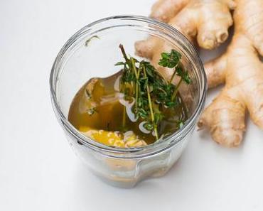 Ingwer-Teesirup für die Erkältungszeit