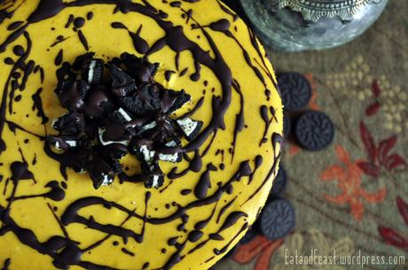 Pumpkin Cheesecake Choclate and Oreo Topping