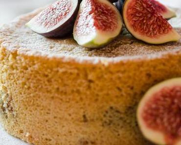 fluffiger Kuchen mit Marzipan-Feigen (vegan)