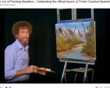 The Joy of Painting mit Bob Ross eröffnet Twitch Creative