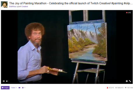 Just happy little accidents. (Screenshot via Twitch, Link unten)