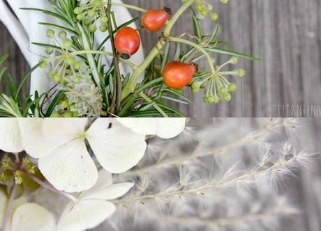 DiY Herbstkranz mit Hortensie und Kräutern