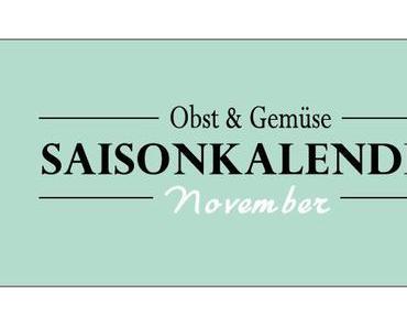 Saisonkalender Obst & Gemüse – November