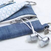 Kopfhörertasche, kabelmäppchen, selber nähen, nähen, anleitung