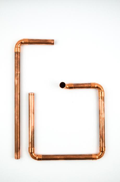 DIY Lampe aus Kupferrohr
