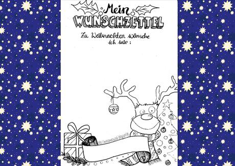 *Freebie* Weihnachts-Wunschzettel