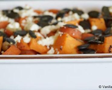Auflauf mit Süßkartoffeln und allerlei anderen Zutaten