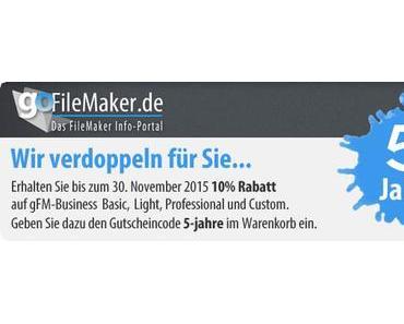 5 Jahre goFileMaker.de – feiern Sie mit!
