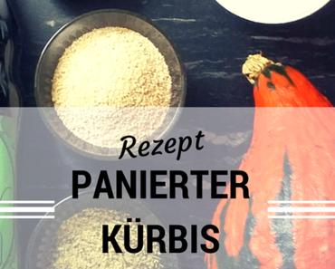 Herbstküche: Panierte Kürbis-Schnitzel mit Kernöldip
