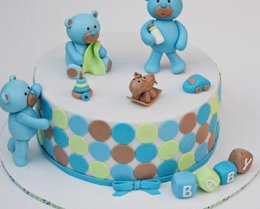 Bärchen Torte zur Baby Shower