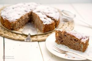 Winterlicher Birnen-Nuss-Kuchen