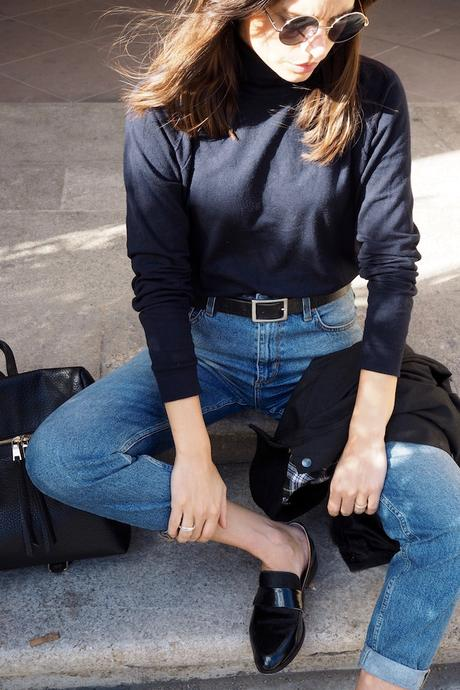 how to wear: mom-jeans