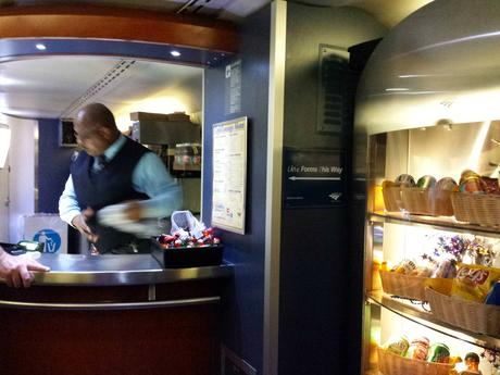 Café Car Amtrak train