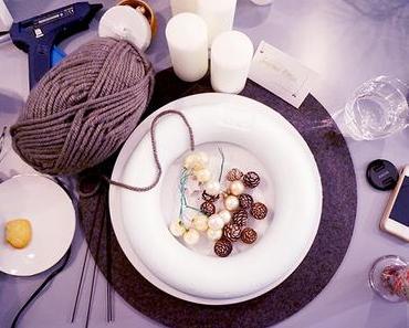 DIY | Adventskranz aus Wolle basteln