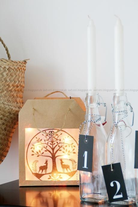 diy laterne als weihnachtsdeko oder schon wieder eine papiert te. Black Bedroom Furniture Sets. Home Design Ideas