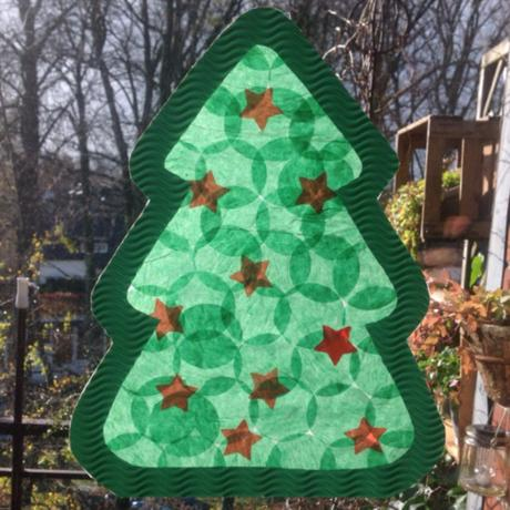 der weihnachtsbaum fuers fenster oder bastelidee fuer