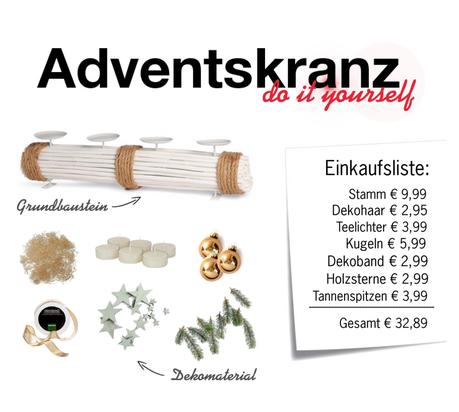 DIY – Adventskranz selber basteln