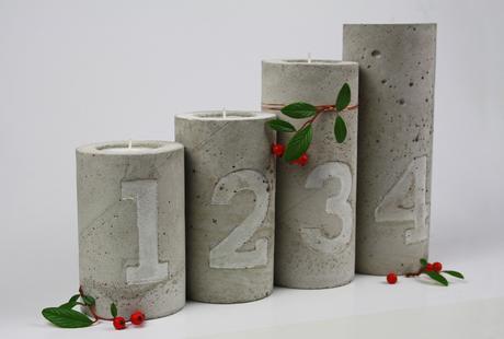 diy beton kupfer kerzenhalter mit pr gung. Black Bedroom Furniture Sets. Home Design Ideas