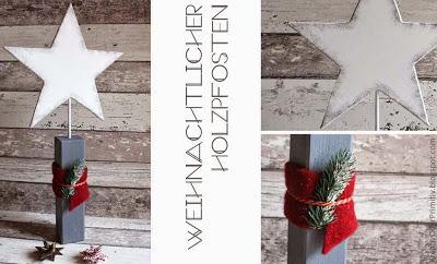 Holzpfosten Sern Anleitung DIY selber machen basteln sägen Kinder Weihnachten Acryl bemalen Buch Empfehlung diy holz Stern Christbaum baum Tannenbaum Pfosten