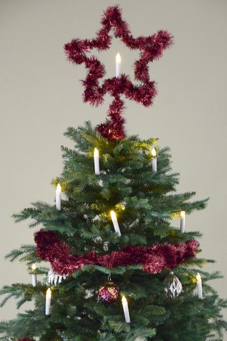 4 Meter bordeaux-violetter Weihnachtstraum