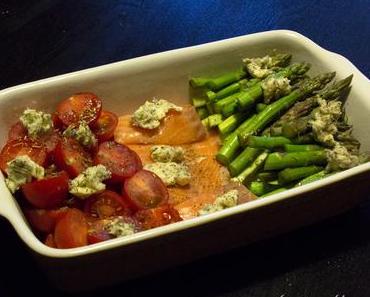 Ofen-Lachs mit Schmorgemüse