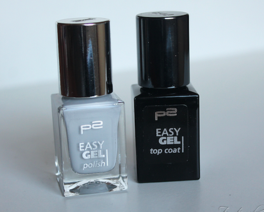 [p2 cosmetics] Easy Gel Polish - 010 Exquisite Grey & Topcoat