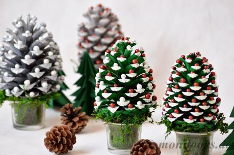 Diy weihnachtsdeko wie tannenzapfen zu tannenb umchen werden - Weihnachtsdeko mit tannenzapfen ...