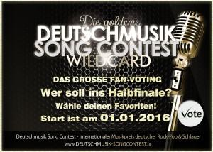 Fan-Voting Deutschmusik Song Contest 2016 - Die goldene Wildcard