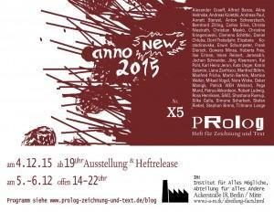 What´s On in Berlin: Releaseparty, Ausstellung und Lesung Prolog Nr. X5