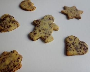 weihnachtskekse – schoko shortbread