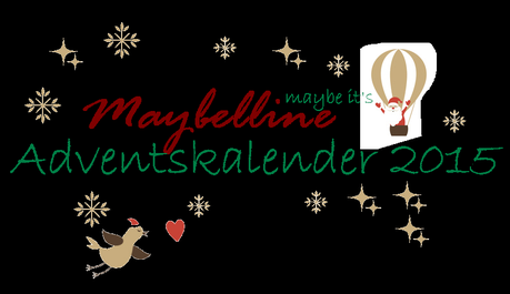 Maybelline Adventskalender 2015 - Inhalt