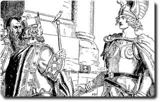 Nibelungen Sage 5/28 • Wie Siegfried mit den Sachsen und Dänen stritt