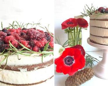 weihnachtlicher naked-cake mit mascarpone-zimt-füllung