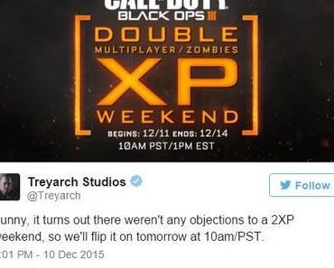 Call of Duty: Black Ops III – Doppelt-XP-Wochenende für PC, PlayStation und Xbox angekündigt