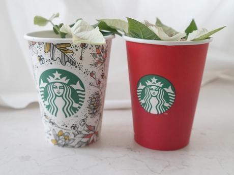 Dekoidee: Coffee-To-Go-Becher als Blumentöpfe II Blogmas #10