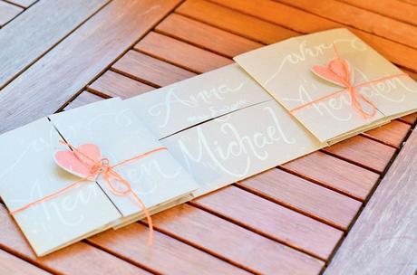Wir Heirateten: DIY Einladungskarten