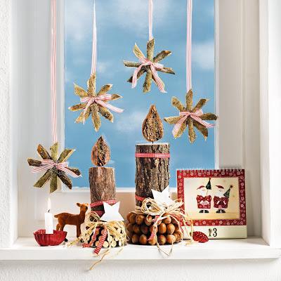 Weihnachtsdeko basteln rindensterne nat rlich sch n - Weihnachtsdeko basteln ...