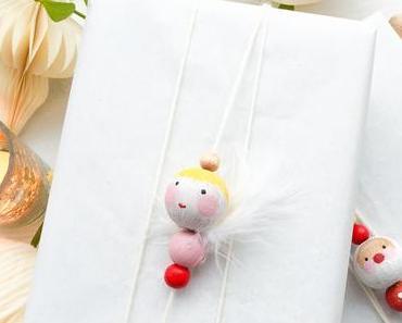 DIY // weihnachtsanhänger aus holzperlen