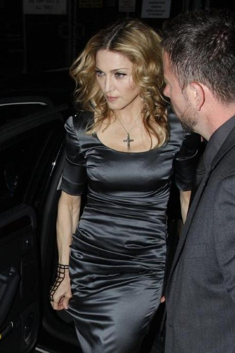 43579, LONDON, UNITED KINGDOM - Saturday August 14 2010. Madonna arrives at London's swanky Shoreditch House to celebrate her 52nd birthday. The Material Girl is currently in the British capital shooting the period drama W.E. . Photograph:  Ringo, PacificCoastNews.com