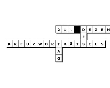 Tag des Kreuzworträtsels – der internationale Crossword Puzzle Day