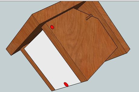 bauanleitung f r einen h ngenden nistkasten. Black Bedroom Furniture Sets. Home Design Ideas
